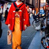 A young Maiko shopping street Gion Kyoto Japan